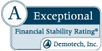 A Exceptional Financial Stability Rating